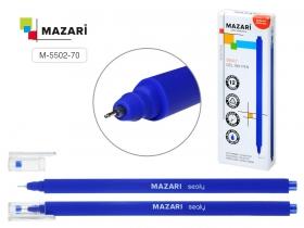 Ручка гелевая SEALY, СИНЯЯ, серия Glide Plus: игольчатый пишущий узел 0.5 мм. Soft touch, M-5502-70