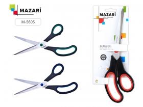 Ножницы офисные BE TOP, 250 мм., пластик ручки с резиновыми вставками M-5605