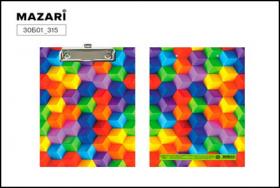 """Планшет с верхним прижимом А5 """"Кубики"""" ламинированный картон 30Б11_315"""
