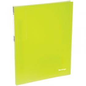 """Папка c пружинным скоросшивателем Berlingo """"Neon"""", 17мм, 700мкм, неоновая желтая AHp_00803"""