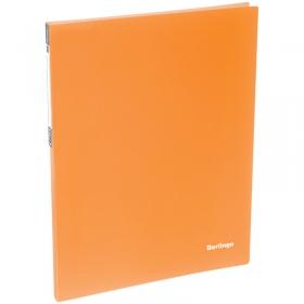 """Папка c пружинным скоросшивателем Berlingo """"Neon"""", 17мм, 700мкм, неоновая оранжевая AHp_00804"""