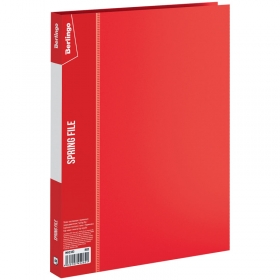 """Папка с пружинным скоросшивателем Berlingo """"Standard"""", 17мм, 700мкм, красная MH2333"""
