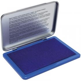 Штемпельная подушка Ideal, 160*90мм, синяя, металлическая 9074M