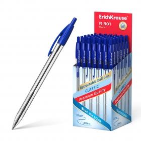 Ручка шариковая автоматическая ErichKrause® R-301 Classic Matic 1.0, цвет чернил синий (в коробке по