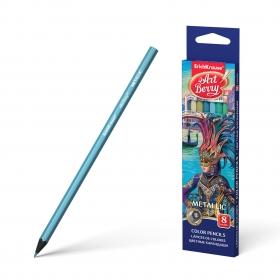 Цветные карандаши шестигранные ArtBerry® Metallic 8 цветов 39425