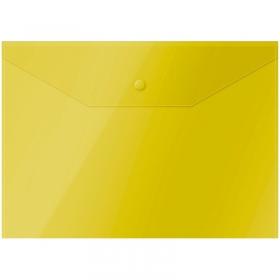 Папка-конверт на кнопке OfficeSpace  А4, 150мкм, желтая Fmk12-2 / 220894