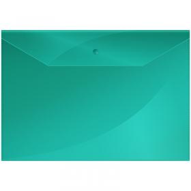 Папка-конверт на кнопке OfficeSpace  А4, 150мкм, зеленая Fmk12-3 / 220895