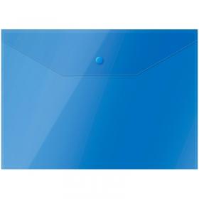 Папка-конверт на кнопке OfficeSpace  А4, 150мкм, синяя Fmk12-5 / 220897