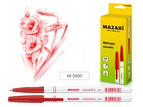 Ручка шариковая GALANTA, КРАСНАЯ, пулевидный пиш.узел 0.7мм, корпус пластиковый белый, M-5900-72