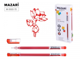 Ручка гелевая Jumbo, MINA, КРАСНАЯ, с увеличенным количеством чернил, одноразовая, игольчатый M-5322