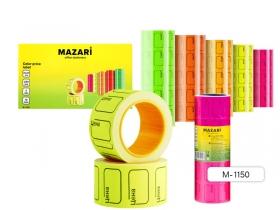Ценник цветной, 220 шт., 20х30 мм, асс. 5 цв., в рулонах M-1150