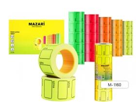 Ценник цветной, 220 шт., 25х35 мм, асс. 5 цв., в рулонах M-1160
