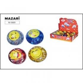 Мяч-попрыгунчик SMILE, d= 6,5 cм, ассорти дизайнов, картонный дисплей. M-9881