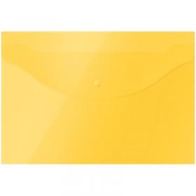 Папка-конверт на кнопке OfficeSpace  А4, 120мкм, желтая 281217