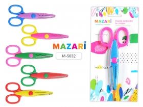 Ножницы детские фигурные, пластиковые ручки, лезвия из нержавеющей стали 135мм, ассорти 6 дизайнов M