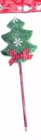 Ручка шариковая CHRISTMAS TREE , СИНЯЯ, 0.7 мм, пластиковый корпус, стержень 100 мм, ОПП-пакет M-761