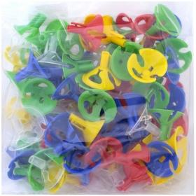 Зажимы для воздушных шаров, 100шт., Поиск, ассорти 4607145438284