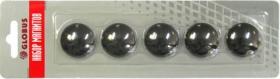 Набор магнитов 30 мм, 5 шт. черные МЧ30
