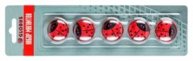 """Набор магнитов """"Божья коровка"""" 30 мм, 5 шт., цветные МЦ30БК"""