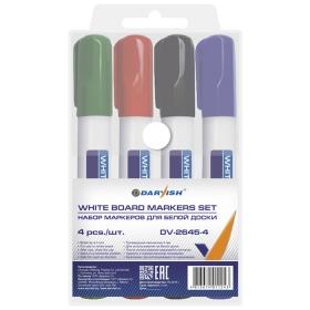 """Набор маркеров для белой доски 4шт/уп """"Darvish"""" на водн.основеDV-2645-4"""
