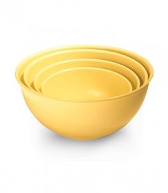 Набор мисок универсальных 4 шт. (2л, 3л, 5л, 7л) желтый МК11