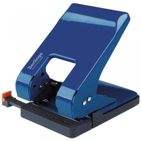 """Дырокол Berlingo """"Smart Technology"""" 45л., металл., энергосбер., с фиксатором, синий, с линейкой"""