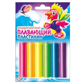 Пластилин плавающий флуоресцентный 6 цветов 22С 1431-08