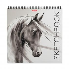 Альбом для эскизов на спирали ErichKrause® Wild Horse, 295x295 мм, 40 листов 48036