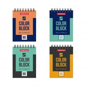 Блокнот на спирали ErichKrause® Color Block, А7, 60 листов, клетка 49682