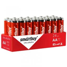Батарейка SmartBuy AAA (LR03) алкалиновая, OS24 SBBA-3A24S