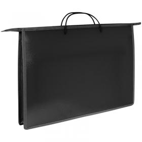 Папка для рисунков и труда А3 ArtSpace, черный, пластик, на молнии ПР3_3413