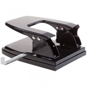 Дырокол на 30л. OfficeSpace, металлический, черный, с линейкой P8714_1866BK/ 180178