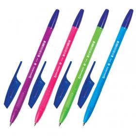 Ручка шариковая BRAUBERG X-333, СИНЯЯ, корпус ассорти, узел 0,7мм, линия 0,35мм, BP156