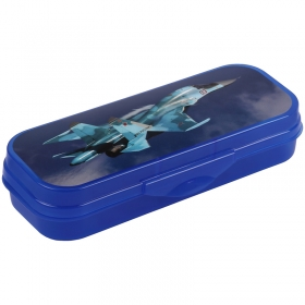 "Пенал-футляр 210*90*40 Стамм ""Самолет"", пластик, синий ПН220"