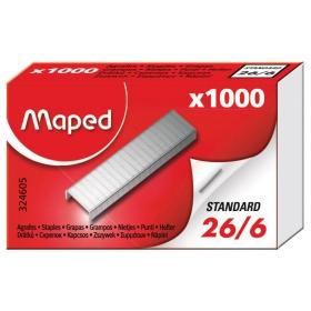 """Скобы №26/6 для степлера Maped """"Expert"""", никелированные, 1000шт. 324605"""