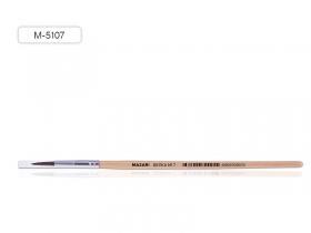 Кисть художественная, из волоса белки, №7, круглая, обойма обжимная, ручка деревянная, M-5107