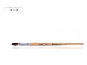 Кисть художественная, из волоса пони, №8, круглая, обойма обжимная, ручка деревянная, M-5118