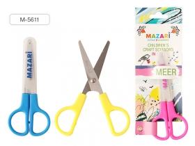 Ножницы детские MEER, 120 мм, лезвия из нержавеющей стали, закругленные концы, M-5611