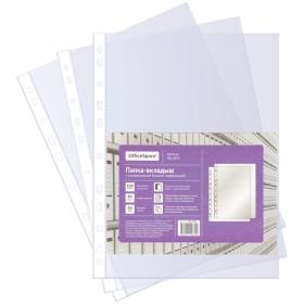 Папка-вкладыш с перфорацией OfficeSpace, А4, 40мкм, глянцевая ПВ_40ГЛ