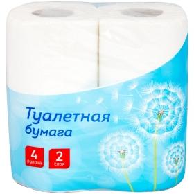 Бумага туалетная OfficeClean 2-слойная, 4шт., тиснение, белая 249814