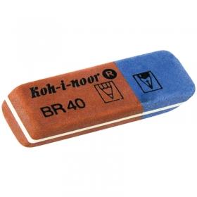 Ластик KOH-I-NOOR 6521/40 каучук 57*19*8мм красно-синий 6521/40