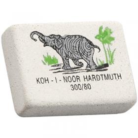 "Ластик ""Elephant"" 300/80, KOH-I-NOOR, 25х17х6 мм, прямоугольный, натуральный каучук, 0300080018KDRU"