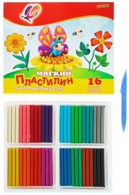 """Пластилин мягкий """"Кроха"""" 16 цветов 28С 1646-08"""