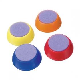 Увлажнитель для пальцев, круглый, d-40мм, ассорти 4 цв. УП02