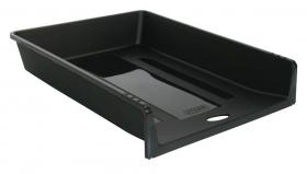 Лоток для бумаг, горизонтальный, ОДИН В ОДИН, пластик, 1 отделение, 265х340х60мм, цв. черный ЛТ152
