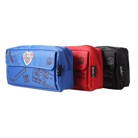 """Пенал мягкий тубус """"Darvish"""" ассорти с рисунком + дополнительный карман на молнии DV-6514"""