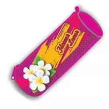 Пенал тубус на молнии большой печать на ткани (FLOWER LOVER), ПТ-02