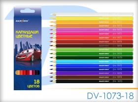 """Карандаши  18 цв """"Darvish"""" мальч. корпус пластиковый DV-1073-18"""