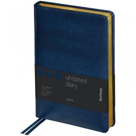 """Ежедневник недатир. A5, 160л., кожзам, Berlingo """"xGold"""", зол. срез, синий UD0_81501"""