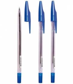 Ручка шариковая масляная СТАММ 333 синий стержень 0,7 мм РШ300